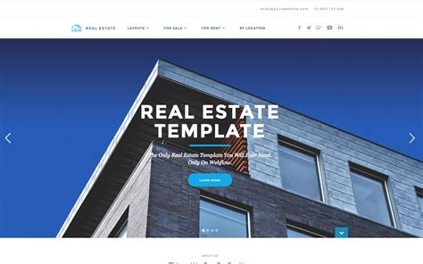 real estate website templates realtor real estate html5 responsive website template