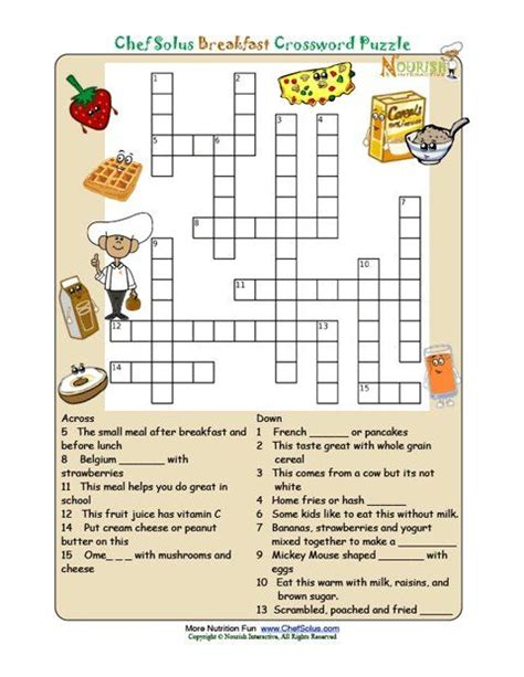 puzzle cuisine printable crossword puzzles for from nourish