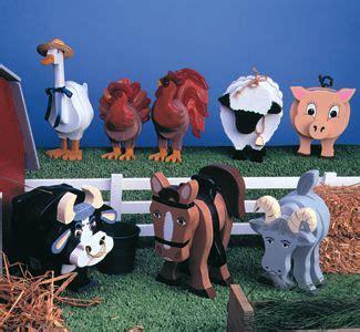farm animals layered animal pattern set holztiere