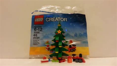 lego creator christmas tree review set 30286 youtube