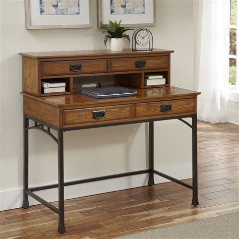 modern computer desk with hutch home styles modern craftsman computer desk with hutch and