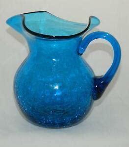 Crackle Vases Glass by Crackle Glass Vase Ebay