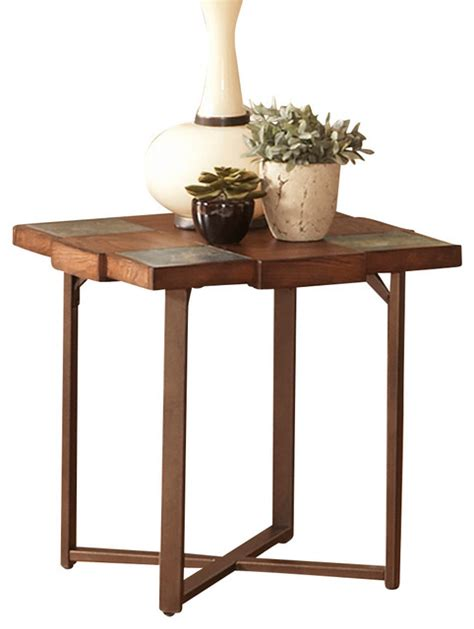 what to put on end tables besides ls steve silver winchester slate top end table with gauge