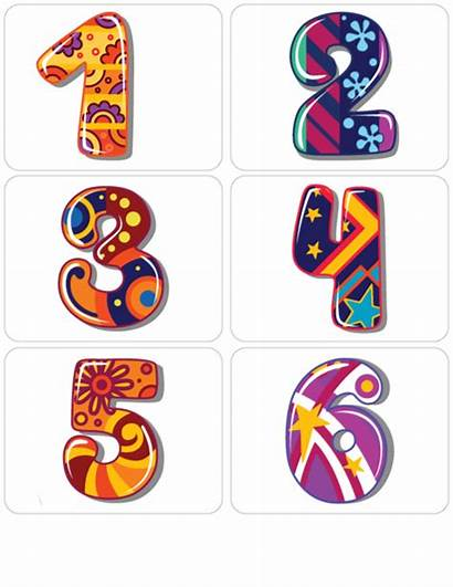 Numbers Clipart Flashcard Spanish Math Number Cool