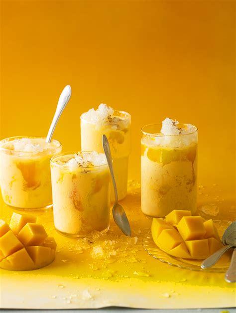 top 10 cuisines of the indian mango smoothie mango lassi recipe sbs food