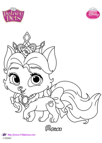palace pets rouge coloring page  printable coloring