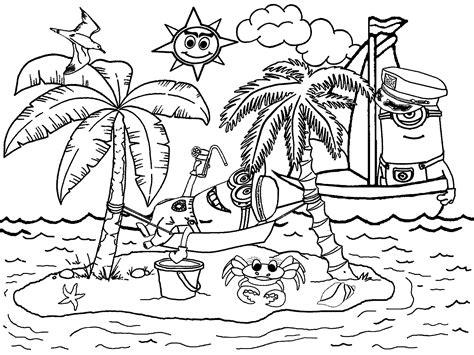 gambar menggambar mewarnai pemandangan contoh gambar rumah