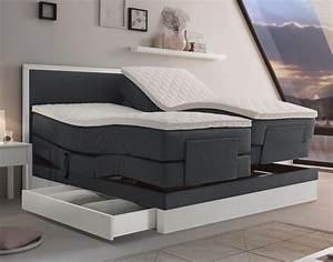 Elektrisch Verstellbares Bett : boxspringbett mit schubladen boxspringbett mit schubladen design bett von rechteck ~ Whattoseeinmadrid.com Haus und Dekorationen