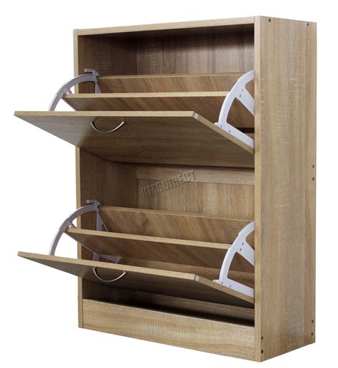 decorative shelf foxhunter wooden shoe storage cabinet drawer footwear