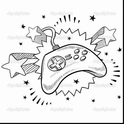 Xbox Controller Coloring Pages Ps4 Drawing Remote