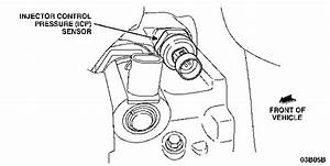 I Cant Find My Injection Control Pressure Sensor On My