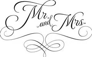 quot mr mrs quot vinyl wall decal refined script and decorative scroll for wall or wedding gift