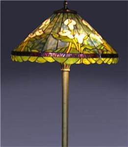 Tiffany style handcrafted stained glass calla lily floor for Tiffany style calla lily floor lamp