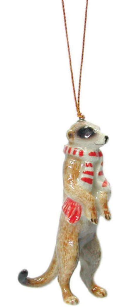 meerkat christmas ornaments northern porcelain tree decoration meerkat with scarf r362