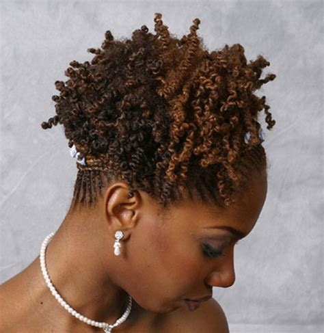 small curly black hairstyle