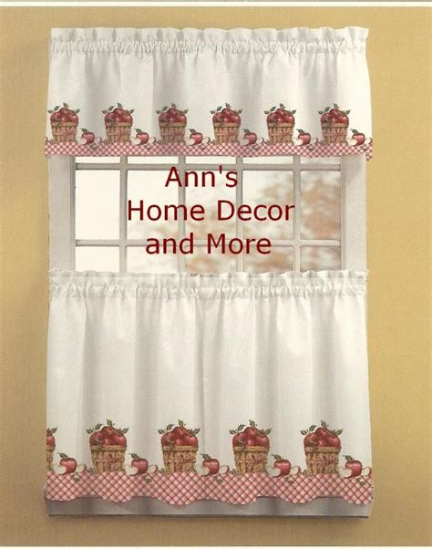 anns home decor and more apple picking 24l tier valance