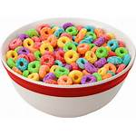 Cereal Transparent Bowl Loops Background Froot Fruit
