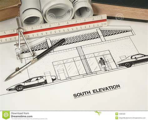 Architectural Design & Tools Stock Photo  Image Of Idea