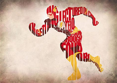 typographic illustrations of famous characters and superheroes naldz graphics