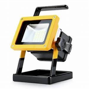 Rechargeable portable led w work light cordless flood
