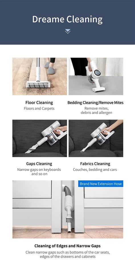 dreame  cordless stick vacuum cleaner pa suction