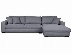 canape d39angle fixe droit 5 places en tissu winson coloris With tapis d entrée avec canapé assise basse