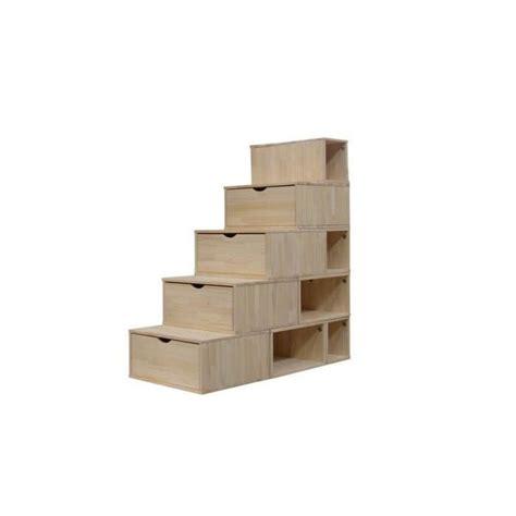 escalier cube pour mezzanine escalier cube de rangement hauteur 125 cm achat vente petit meuble rangement escalier cube