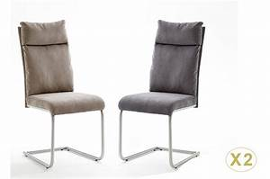 Tissu Pour Chaise : chaise tissu gris ou marron clair avec poign e pour salle manger ~ Teatrodelosmanantiales.com Idées de Décoration