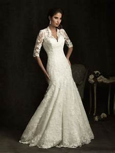 lace wedding dresses with 3 4 sleeves sang maestro With 3 4 sleeve lace wedding dress