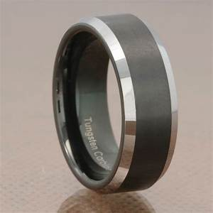 Fascinating Black Tungsten Wedding Bands Wedding And