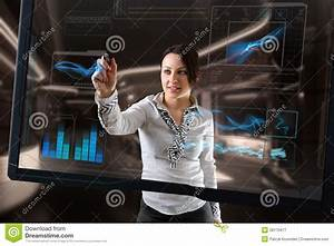 Futuristic Touch Screen Technology Royalty Free Stock ...