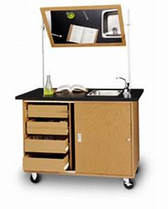 Wood Mobile Demonstration Cart At Direct Advantage
