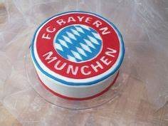 FC Bayern München Torte Cakes with Fondant/ Kuchen mit