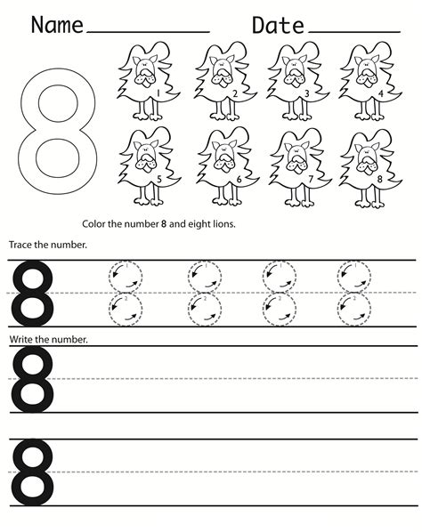 Writing Numbers Worksheets Printable  Activity Shelter