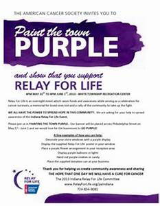 1000 images about relay for life paint the town purple With relay for life flyer template