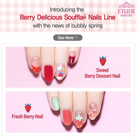etude house berry delicious strawberry souffle nails