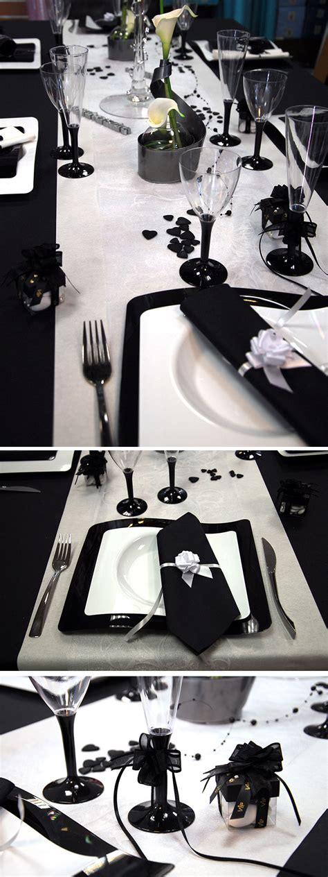 nappe mariage table mariage noir et blanc
