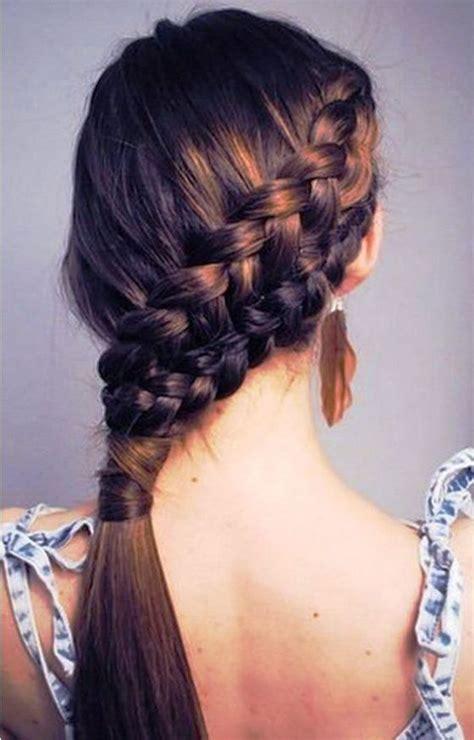 ideas  peinados trenzas de lado  pinterest