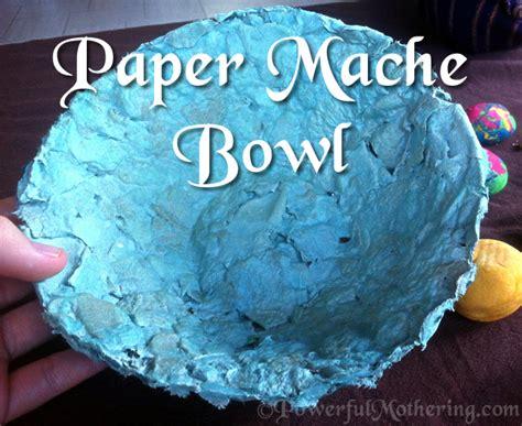 paper mache bowl craft