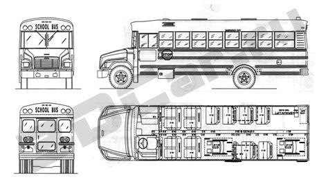School Bu Dimension Diagram by чертеж Schoolbus 02 3dcar Ru 3d модели