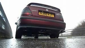 Honda Civic MB3 exhaust sound / de-cat - YouTube