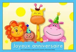 Carte Anniversaire Pour Enfant : carte anniversaire enfant a imprimer thumbshot ~ Melissatoandfro.com Idées de Décoration