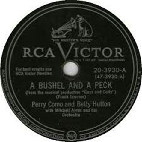 perry como a bushel and a peck 17 best images about top 40 charts 1950 1959 on
