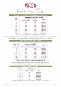 Cake Price List Template Cakepins Com Cake Pricing Chart