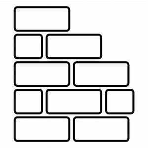 Bricks wall rounded rectangle - Transparent PNG & SVG vector
