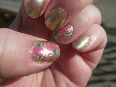 Acrylic Roses Nail Art By Eda Whitby
