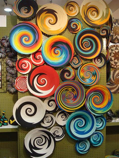 african plates covering wall    remade