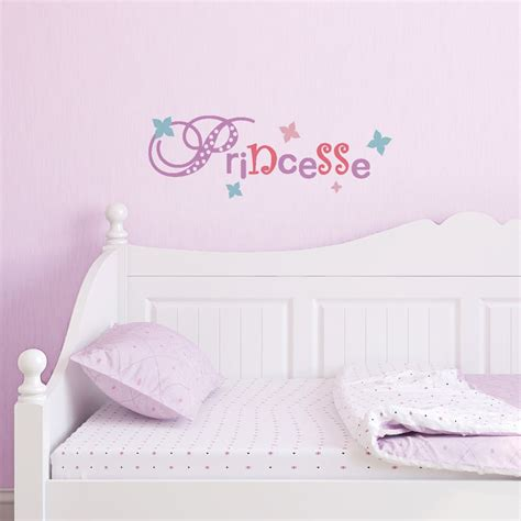 tickers chambre fille princesse sticker mural quot lettrage princesse quot motif enfant fille