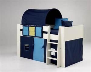Tunnel Für Hochbett : kinderbett hochbett bett mit tunnel vorhang blau mdf wei lackiert kinderzimmer kaufen bei ~ Orissabook.com Haus und Dekorationen