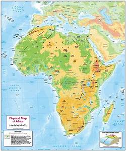 Children U0026 39 S Physical Map Of Africa
